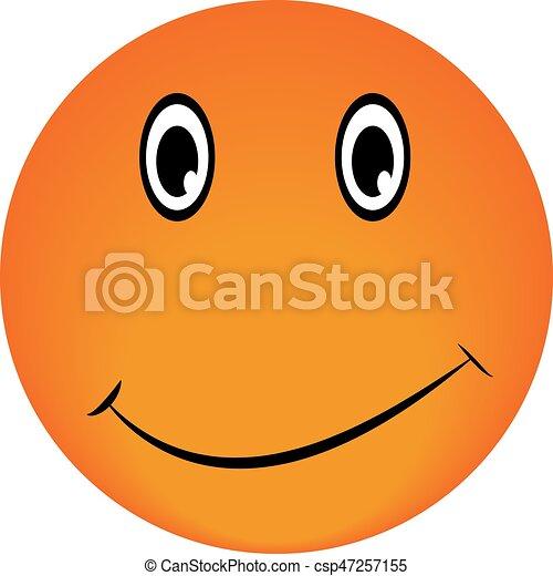 Smiley Vector happy face - csp47257155