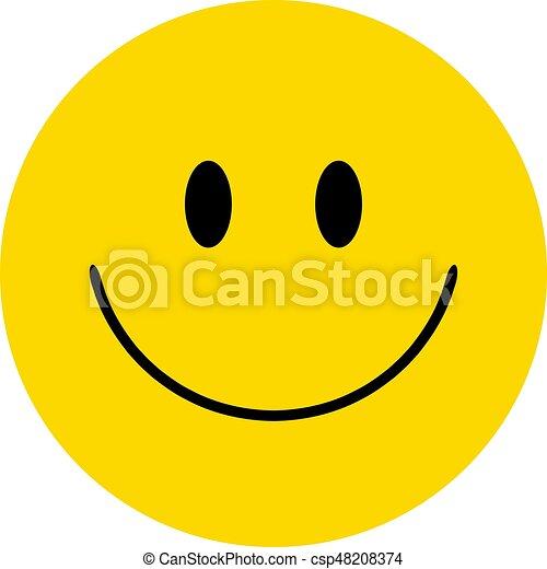 Smiley. Vector happy face - csp48208374