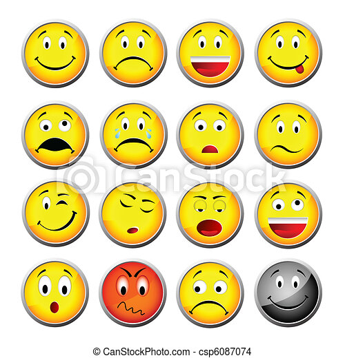 smileys, amarela - csp6087074