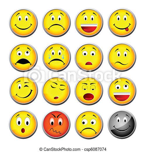 Gelbe Smileys - csp6087074
