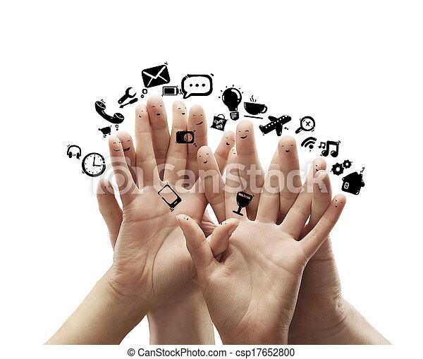 Grupo de dedos sonrientes - csp17652800