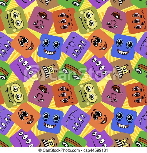 Monstruos sonrientes, sin costura - csp44599101