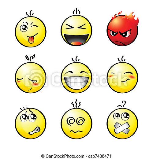 Smileys | Set 1 - csp7438471