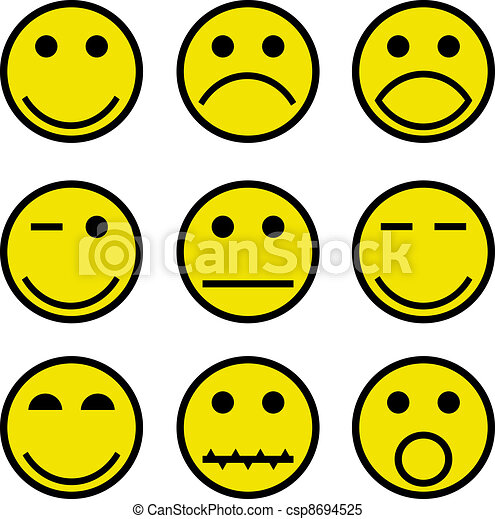 smilies and faces - csp8694525