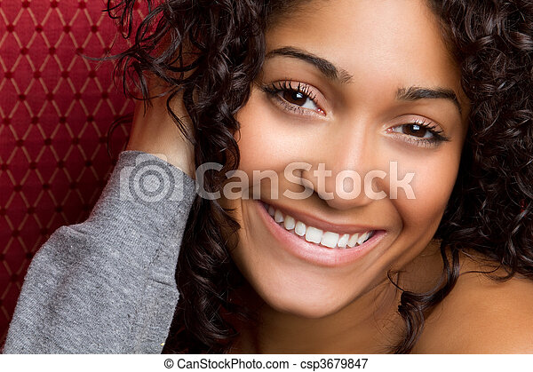 Smiling African American Woman - csp3679847