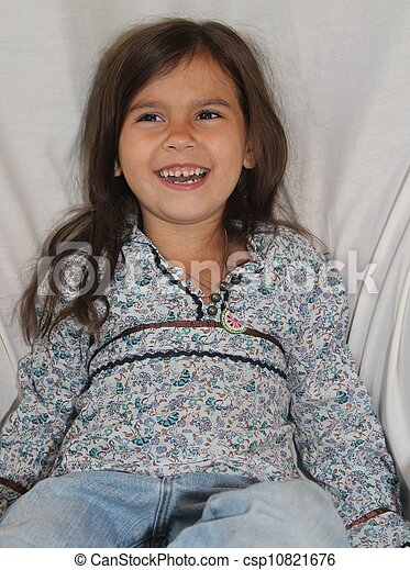 Smiling Alaska Native Girl - csp10821676
