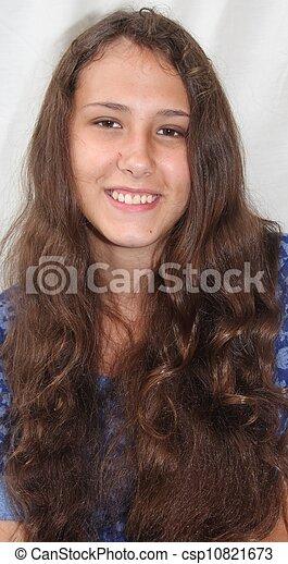 Smiling Alaska Native Teen Girl - csp10821673