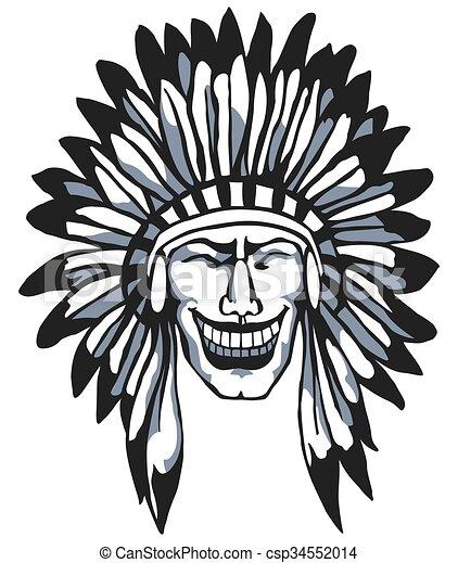 smiling apache native american head indian vector clip art rh canstockphoto com native american victories native american victory over us army