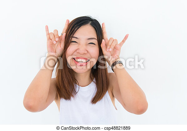 smiling asian woman - csp48821889
