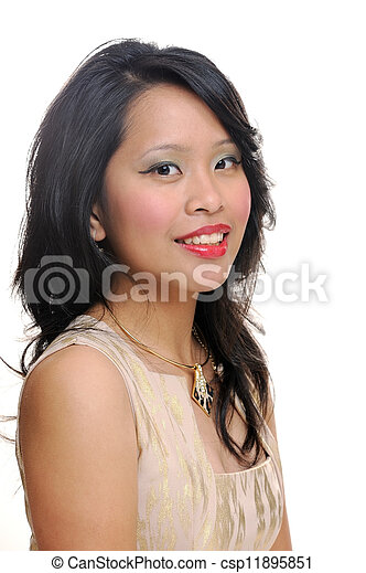 Smiling asian woman - csp11895851