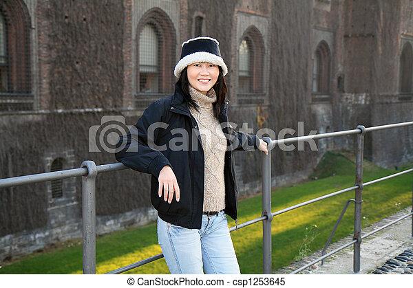 Smiling Asian Woman - csp1253645