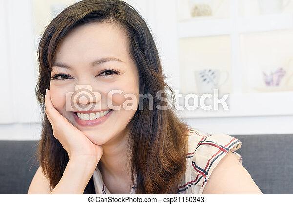 smiling Asian woman - csp21150343