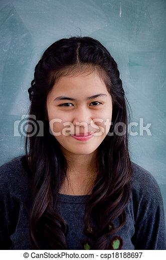 Smiling Asian woman - csp18188697