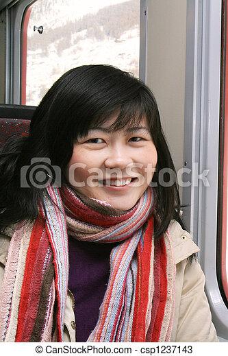 Smiling Asian Woman - csp1237143