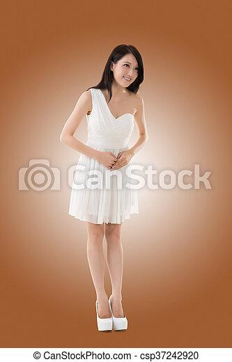 Smiling Asian young woman - csp37242920