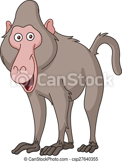 smiling baboon rh canstockphoto com baboon clipart black and white cute baboon clipart