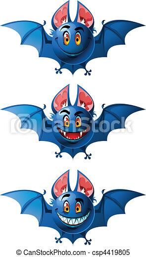 Smiling bats - csp4419805