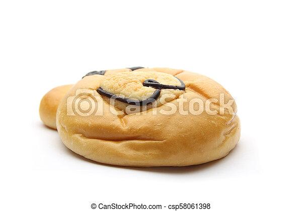 Smiling bear bread - csp58061398