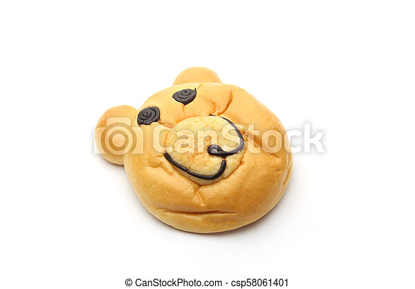Smiling bear bread - csp58061401