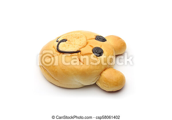 Smiling bear bread - csp58061402