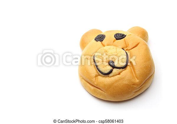 Smiling bear bread - csp58061403