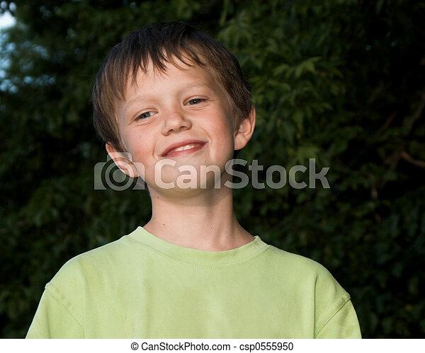 smiling boy - csp0555950