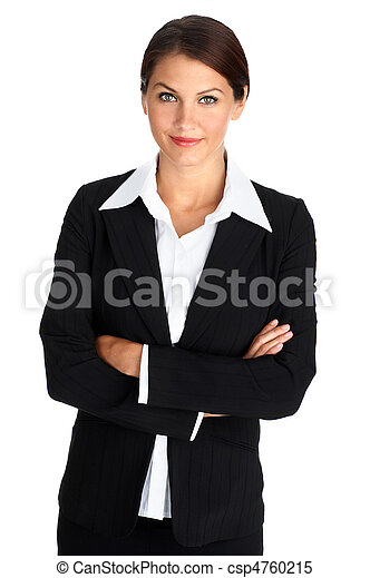 Smiling business woman - csp4760215