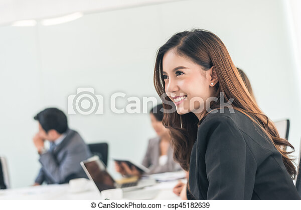 smiling business woman - csp45182639