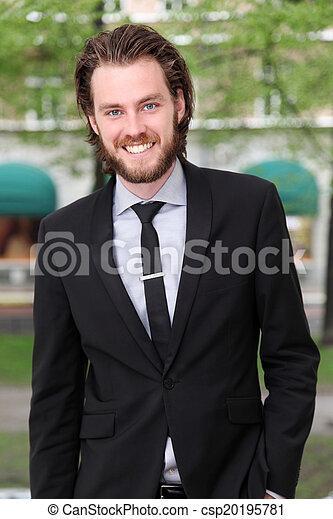 Smiling businessman - csp20195781