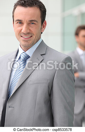 Smiling businessman - csp8533578