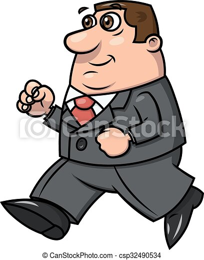 Smiling businessman running 2 - csp32490534