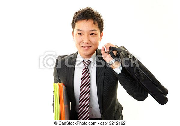 Smiling businessman - csp13212162