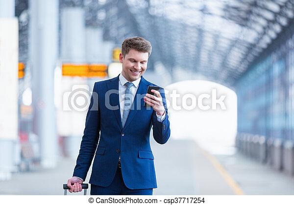 Smiling businessman - csp37717254