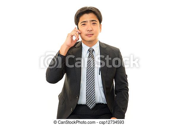 Smiling businessman - csp12734593