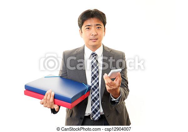 Smiling businessman - csp12904007