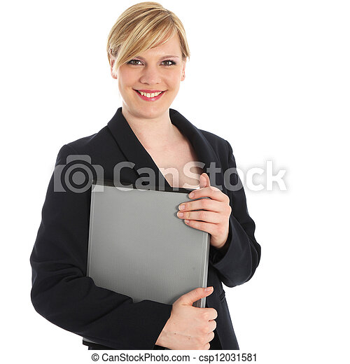 Smiling businesswoman or manageress - csp12031581