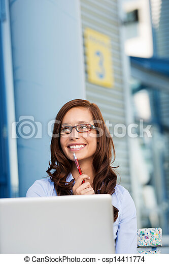 Smiling businesswoman - csp14411774