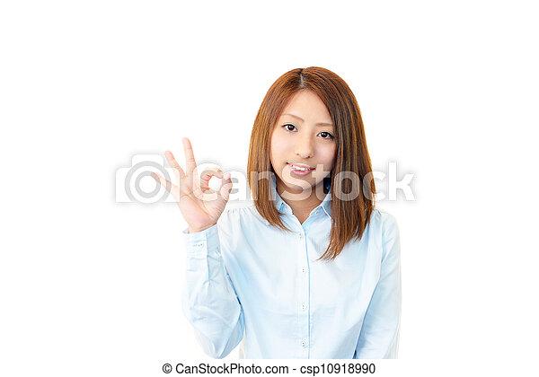 Smiling businesswoman - csp10918990