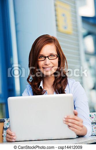 Smiling businesswoman - csp14412009