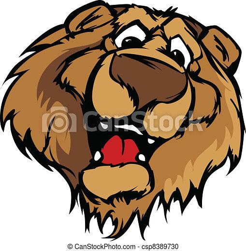 smiling cartoon bear mascot vector bear mascot with cute vector rh canstockphoto com bear mascot clipart free Bear Paw Clip Art