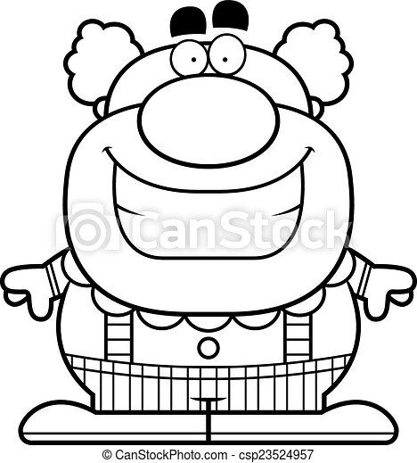 Smiling Cartoon Clown - csp23524957