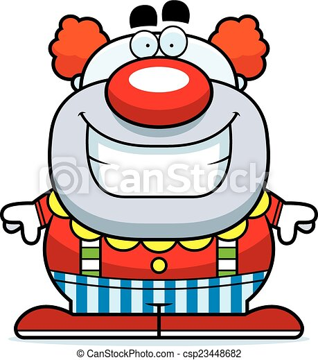 Smiling Cartoon Clown - csp23448682