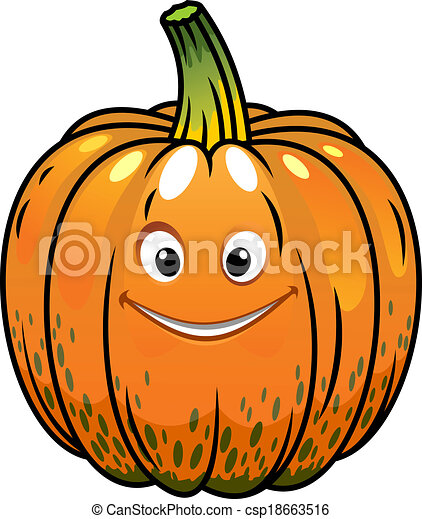 Smiling cartoon fall pumpkin smiling whole fresh orange vector smiling cartoon fall pumpkin csp18663516 thecheapjerseys Images