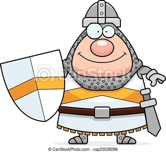 Smiling Cartoon Knight - csp23538086
