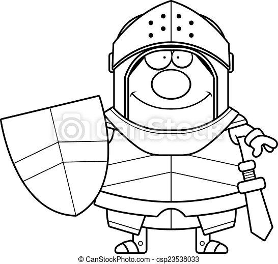 Smiling Cartoon Knight - csp23538033