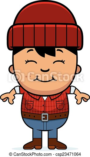 smiling cartoon little lumberjack a cartoon illustration of clip rh canstockphoto ca lumberjack clipart black and white lumberjack clipart black and white