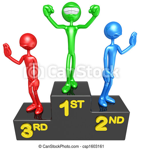 smiling champion on victory podium 3d concept and clipart rh canstockphoto com podium clipart png winners podium clipart