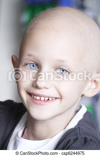 smiling child with cancer - csp6244975