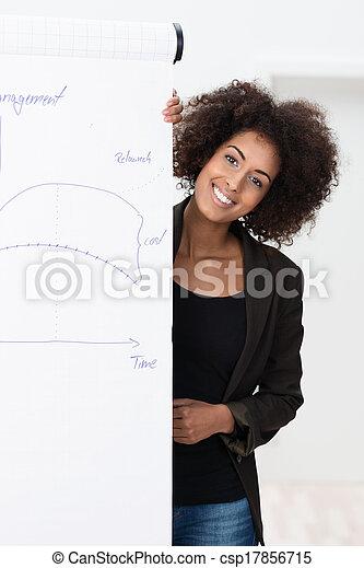 Smiling confident businesswoman - csp17856715