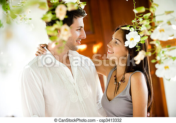 Smiling Couple - csp3413332